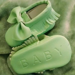 Other - Mint Green Baby Moccasins, size 1.